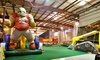 SuperGames: Bounce House Rentals - Worthington Village North: Visits to Indoor Playground and Arcade at SuperGames (Up to 54% Off). Three Options Available.