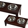 Wooden Raised Pet Feeders