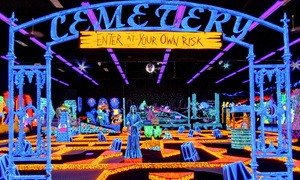 Monster Mini Golf: Four Rounds of Miniature Golf with Optional $20 Arcade Game Card at Monster Mini Golf (50% Off)