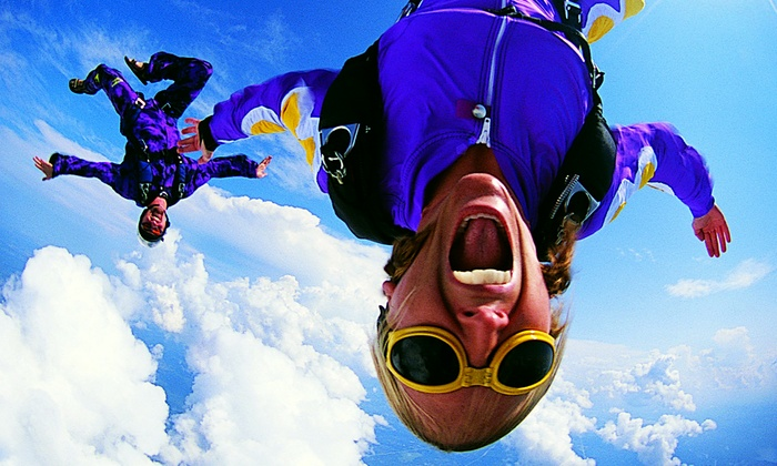 Skydive Tuskegee - Tuskegee: Tandem Skydiving with AFF Ground School Training and T-Shirts for One or Two from Skydive Tuskegee (Up to 54% Off)