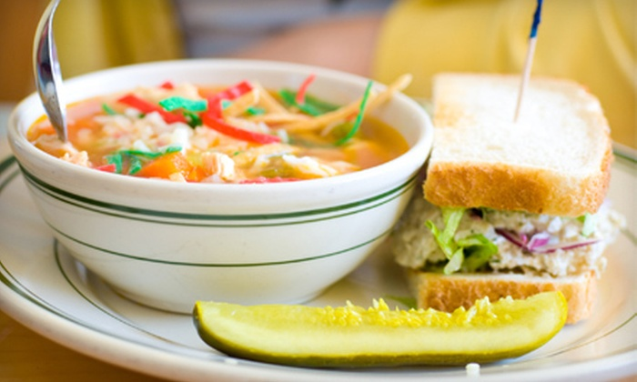 Rosie's Mountain Coffee House - Mill City: Half Sandwich with Soup or Salad and Dessert for One or Two at Rosie's Mountain Coffee House (Up to 51% Off)