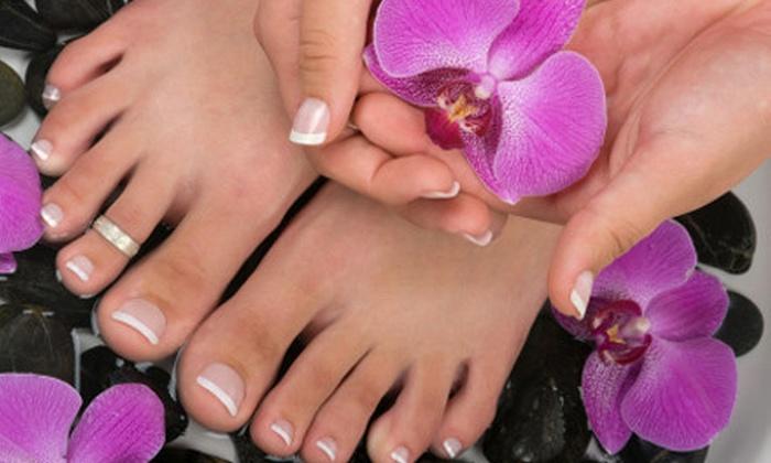 The NailPort Nail Salon - Sandy: One or Two Spa Mani-Pedis at The NailPort Nail Salon (Up to 68% Off)