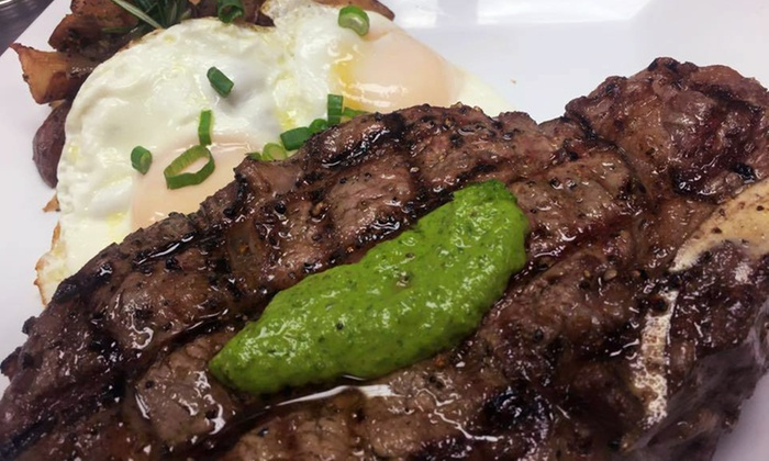Flat Iron Steak & Saloon - Old Town on King St.: Brunch for Two or Four at Flat Iron Steak & Saloon (Up to 50% Off)