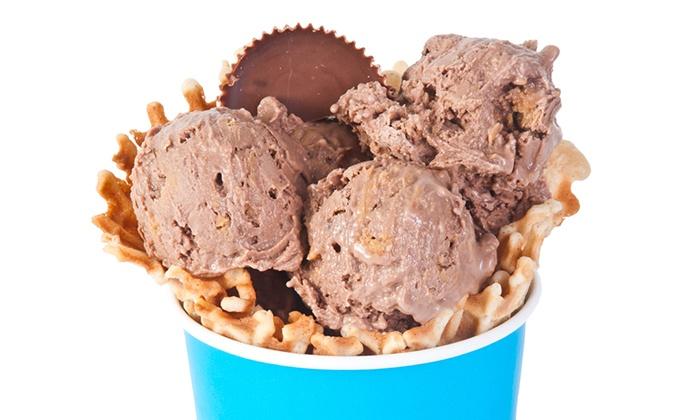Liquid Freeze - Gulf Shores: 5 or 10 Cups of Liquid-Nitrogen Ice Cream at Liquid Freeze (Up to 52% Off)
