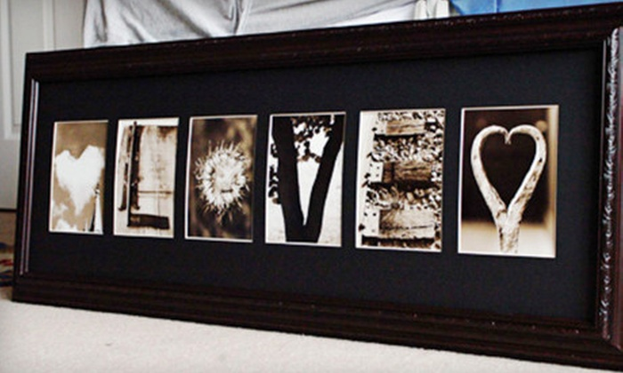 Frame the Alphabet: $59 for $135 Worth of Customized Letter Art from Frame The Alphabet (Up to 56% Off)