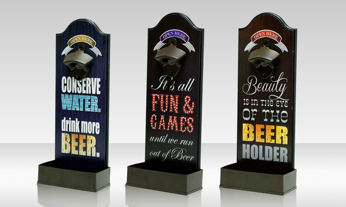 Wall-Mounted Bottle Openers: $10.99 for a Wall-Mounted Bottle Opener ($14.99 List Price). Multiple Designs Available. Free Returns.