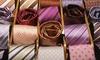 Cravate en soie fait main