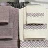 6-Piece 100% Egyptian Cotton Towel Set with Chevron Border