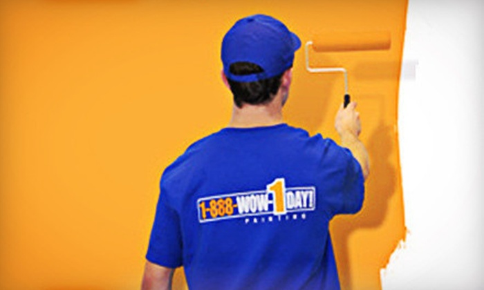 1-888-WOW-1DAY! Painting - San Jose: Seven Hours of Painting Services by One or Two Professional Painters from 1-888-WOW-1DAY! (Up to 52% Off)
