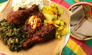 Aster's Ethiopian Restaurant: Ethiopian Cuisine for Dine-In or Pickupat Aster's Ethiopian Restaurant (43% Off)