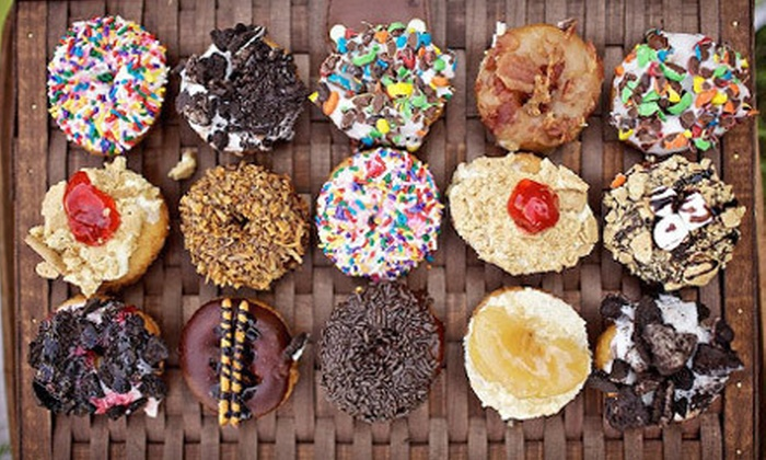 Peace, Love and Little Donuts of Grove City - Springfield: $10 for $20 Worth of Gourmet Donuts, Coffee, and Logo Mugs at Peace, Love and Little Donuts of Grove City