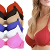 Pushup Underwire T-shirt Bras (6-Pack)
