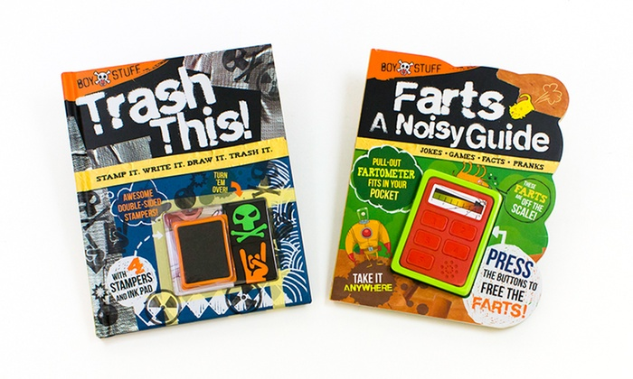 Boy Stuff Farts: A Noisy Guide and Trash This! Book Set: Boy Stuff Farts: A Noisy Guide and Trash This! Book Set