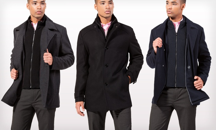 Kenneth Cole Men's Melton Coats: Kenneth Cole Men's Melton Coats (Up to 88% Off). Multiple Styles and Sizes Available.