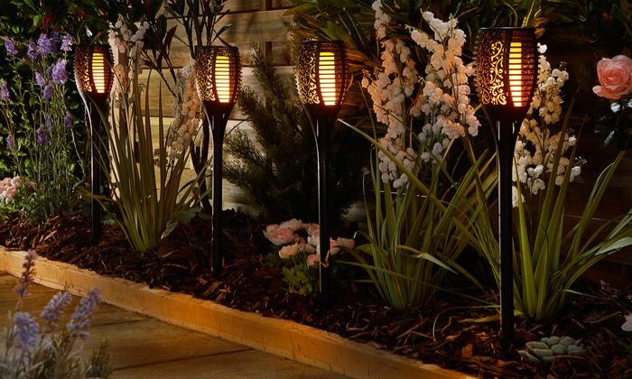 Fino a su lampada solare da giardino groupon