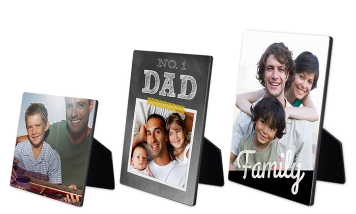 "York Photo: One 5""x5"", 5""x7"", or 8""x10"" Custom Photo Easel Panel from York Photo (Up to 62% Off)"
