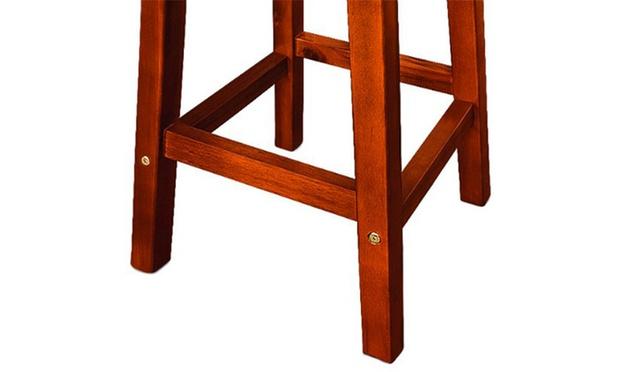 lot de 2 tabourets de bar en bois groupon shopping. Black Bedroom Furniture Sets. Home Design Ideas