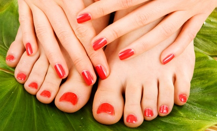 One or Two Spa Mani-Pedis at The Main Salon (Up to 49% Off)