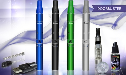 Atmos Rx Dry Vaporizer Kit with Oil Cartridge, Relaxation Oil, and Glass Screen