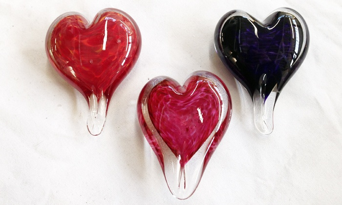 Slow Burn Glass - McClymonds: $39 for a Make-Your-Own Heart Ornament Glass-Blowing Workshop at Slow Burn Glass ($100 Value)