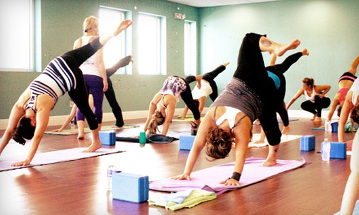 Twin Power Yoga - Multiple Locations: 5 or 10 Yoga Classes at Twin Power Yoga (Up to 70% Off)
