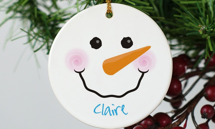 Giftsforyounow.com: One or Three Personalized Round Ceramic Ornaments from GiftsForYouNow.com (Up to 41% Off)