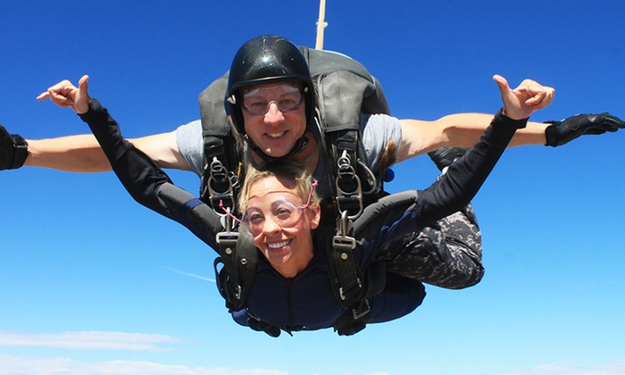 Out of the Blue Skydiving - Florence: Tandem Skydive for One or Two at Out of the Blue Skydiving (40% Off)