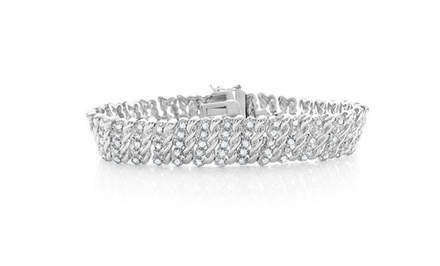 2 CTTW Diamond Bracelet with 14-Karat White-Gold Plating. Free Returns.