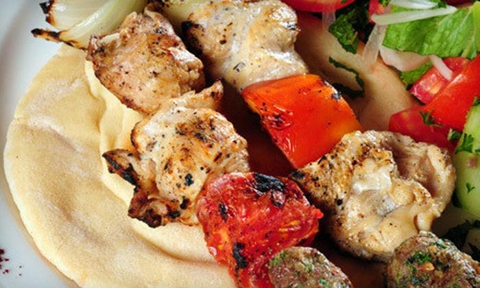 Cazba Mediterranean Restaurant - Downtown: Mediterranean Dinner or Lunch at Cazba Mediterranean Restaurant (Half Off)
