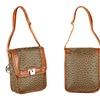 Emilie M. Cross-Body Bag. Leslie Ostrich Flap Crossbody