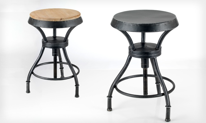Adjustable Iron Barstool: $68.99 for an Adjustable Iron Barstool ($179.99 List Price). Two Styles Available. Free Shipping and Free Returns.