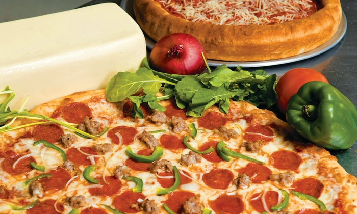 Famulari's Pizzeria - Multiple Locations: Pizza Meal with Side or Salad and Soda for Two or Four at Famulari's Pizzeria (Up to 45% Off)
