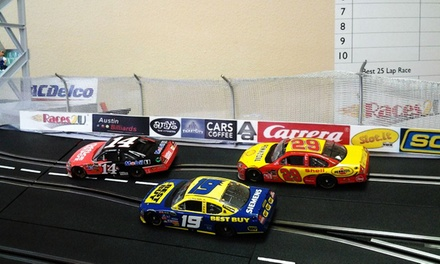 One-Hour of Mini Slot Car Racing for One, Two, or Four at Races2U (Up to 53% Off)