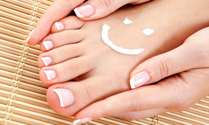 Tina Chaffee at A Cut Ahead Salon - Rockford: Deluxe Manicure with Optional Spa Pedicure from Tina Chaffee at A Cut Ahead Salon (Up to 43% Off)