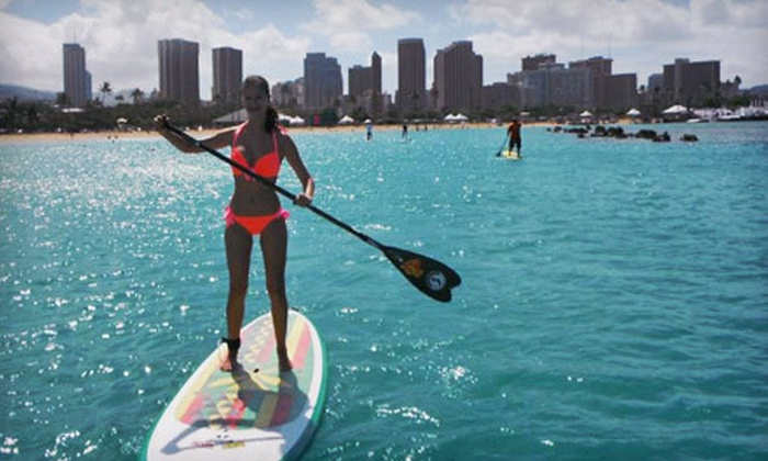 Sea & Board Sports Hawaii - Hawaii-Haleiwa: Standup-Paddleboard Lessons and Tours at Sea & Board Sports Hawaii in Kapolei (Up to 56% Off). Four Options Available.