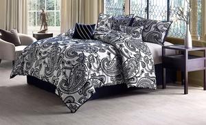 7 Piece Flocked Comforter Set Groupon Goods