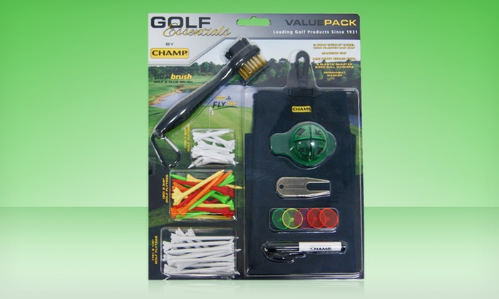 Champ Golf Essentials Value Pack: $24.99 for a Champ Golf Essentials Value Pack ($49.99 List Price). Free Shipping and Returns.