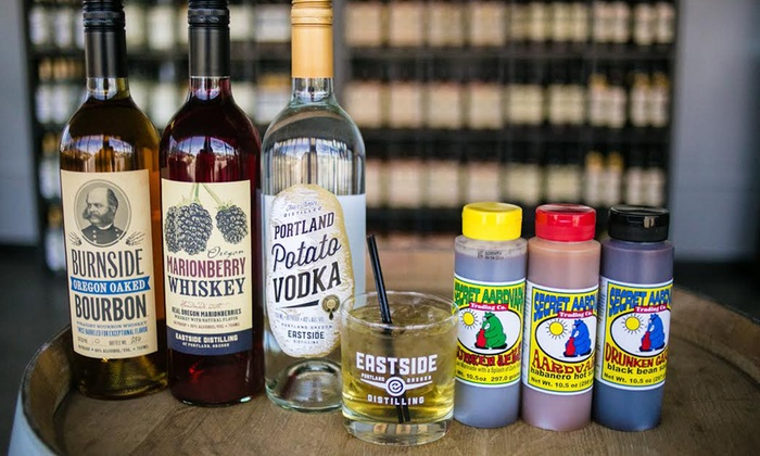 Eastside Distilling - Multiple Locations: Spirit Tastings and Secret Aardvark Sauce for Two, Four, or Six at Eastside Distilling (Up to 50% Off)