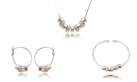 Charm Link Pendant Jewelry Set