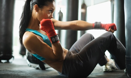 5 or 10 Fitness Kickboxing Classes with Gloves at Karate John's Martial Art Center (Up to 63% Off)
