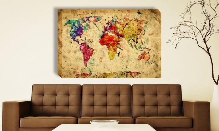 World maps canvas prints groupon goods world maps canvas prints gumiabroncs Images