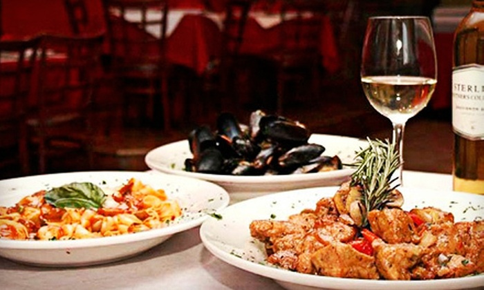 Aroma D' Italia - Mofongo's: Three-Course Italian Dinner for Two or Four at Aroma D' Italia (Up to 58% Off)
