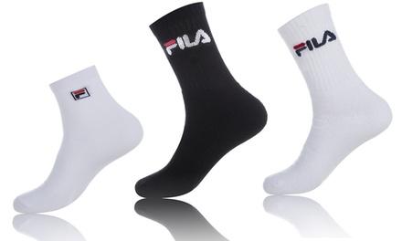 Fino a 24 paia di calze Fila disponibili in 2 modelli e nei colori bianco o nero