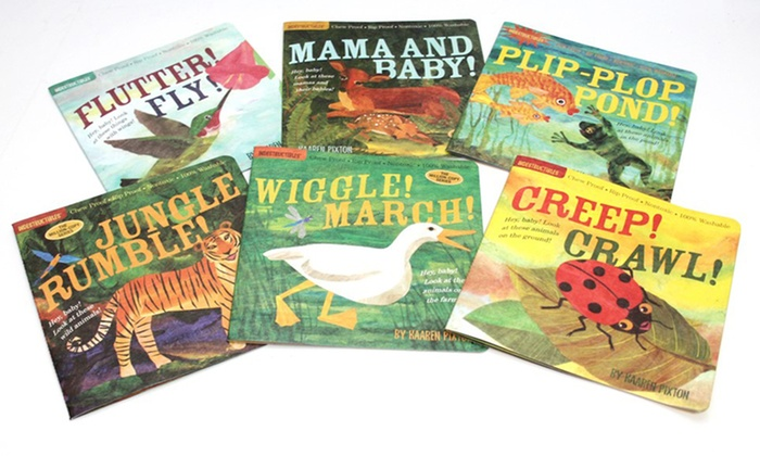 Indestructibles Animals Baby Book Set 6 Piece