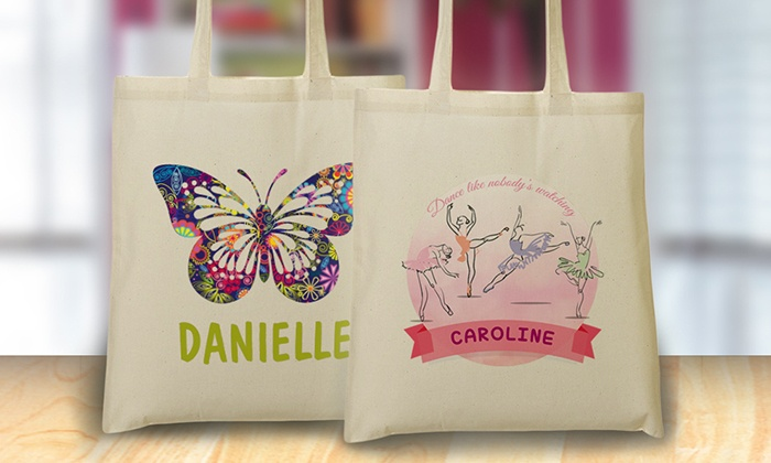 Monogram Online: One or Two Kids' Personalized Tote Bags from Monogram Online (81% Off)