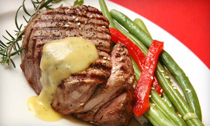 Peppers Restaurant - Pasadena: Steaks, Seafood, and Burgers at Peppers Restaurant (Half Off). Four Options Available.