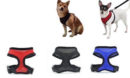 Lightweight Adjustable Pet Mesh Harness: One $9.95 or Two $14