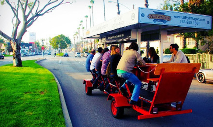 Pediwagon - Belmont Shore: Two-Hour Pedal-Pub Tour for Two or Four, or a Private Two-Hour Pedal-Pub Crawl for 15 from Pediwagon (Up to 57% Off)