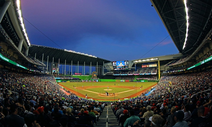 Miami Marlins - Marlins Park: $35 for a Miami Marlins Game and a Wine Down Wednesday Package at Marlins Park. Three Games Available.