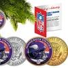 NFL Minnesota Vikings JFK Half-Dollar Coin Ornaments (2-Coin Set)